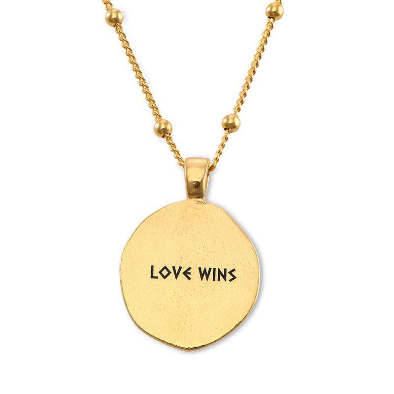 Aphrodite Coin Necklace in Gold Plating - 4