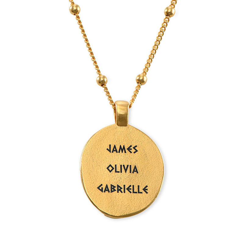 Hestia Coin Necklace in Gold Plating - 4