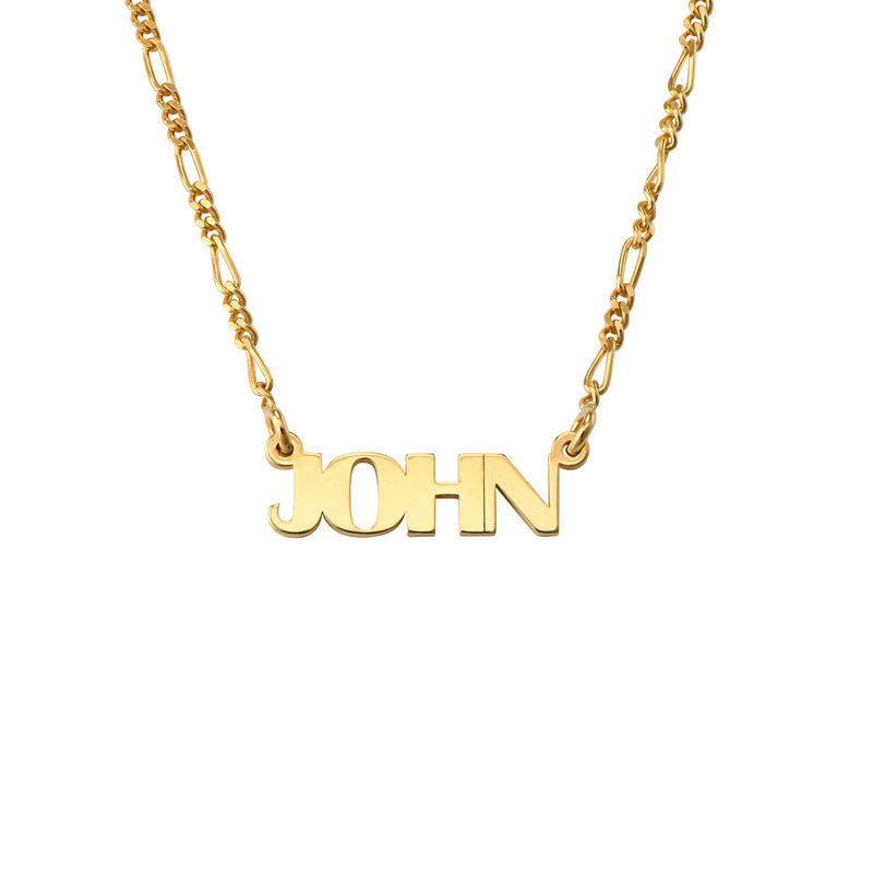 All Capital Name Necklace in Gold Plating