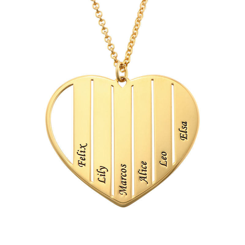 Mom Heart Necklace in Gold Plating