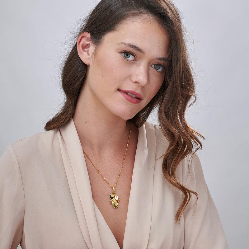 Custom Birthstone Drop Necklace for Mom in 18k Gold Vermeil - 1