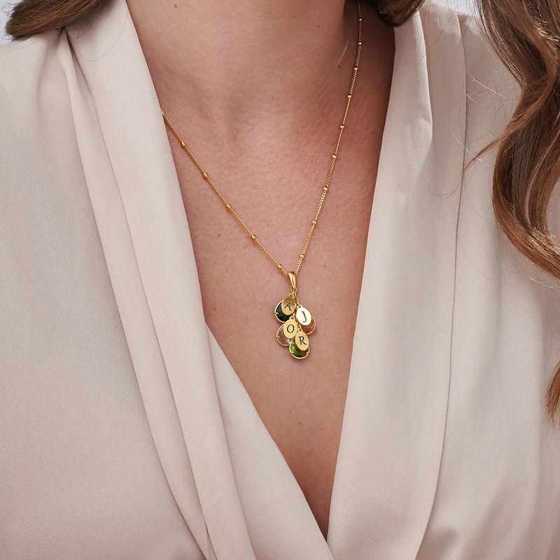 Custom Birthstone Drop Necklace for Mom in 18k Gold Vermeil - 2