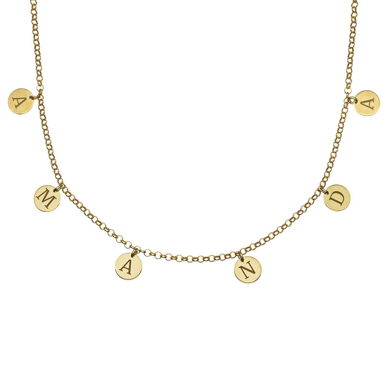 Initials Choker Necklace in 18k Gold Vermeil