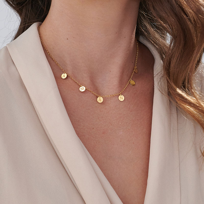 Initials Choker Necklace in 18k Gold Vermeil - 3