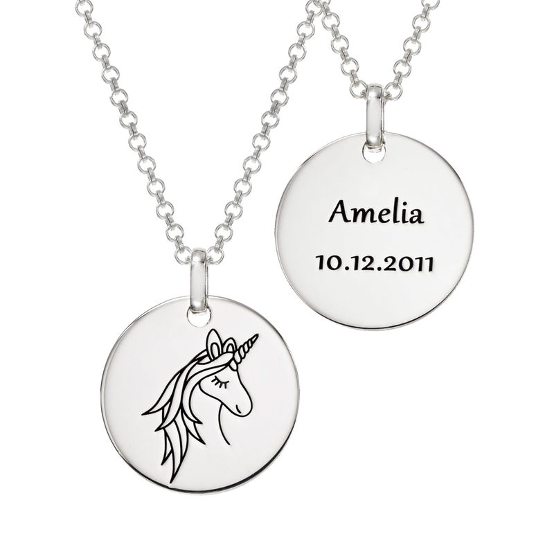 Unicorn Pendant Necklace in Sterling Silver - 2
