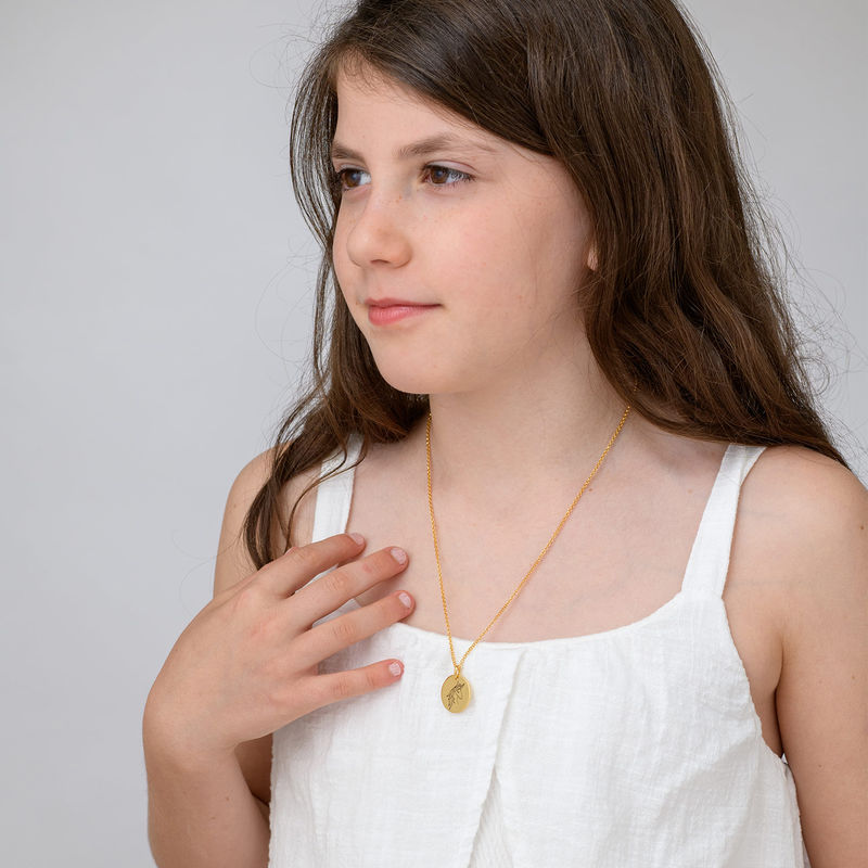 Unicorn Pendant Necklace in Gold Plating - 3