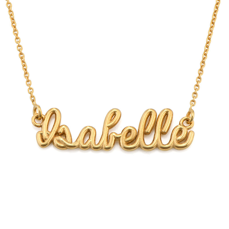 Handwriting Necklace with Name in Gold Plating