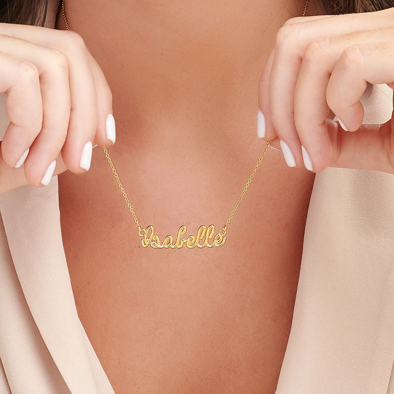 Handwriting Necklace with Name in Gold Plating - 2