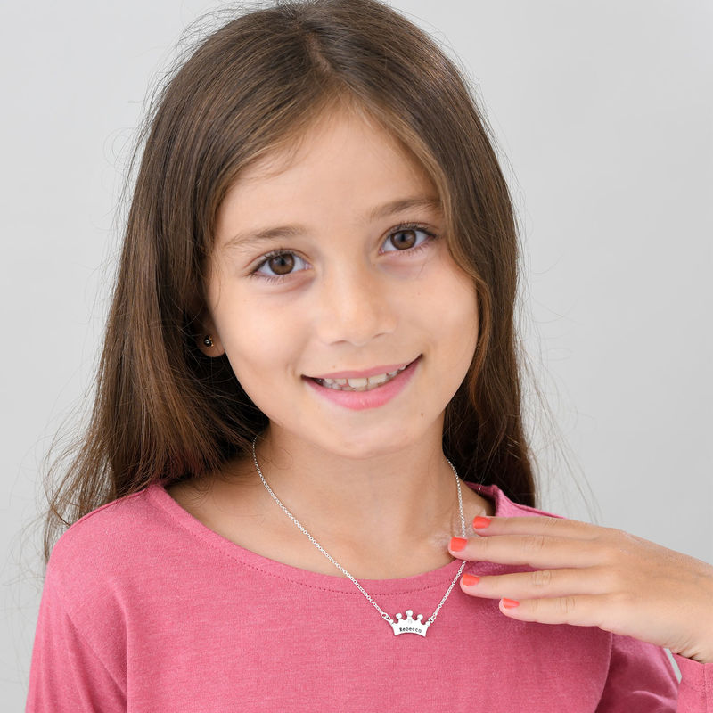Princess Crown Necklace for Girls with Cubic Zirconia - 1