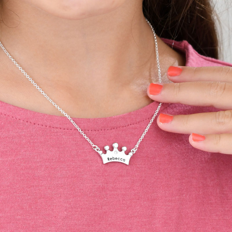 Princess Crown Necklace for Girls with Cubic Zirconia - 2