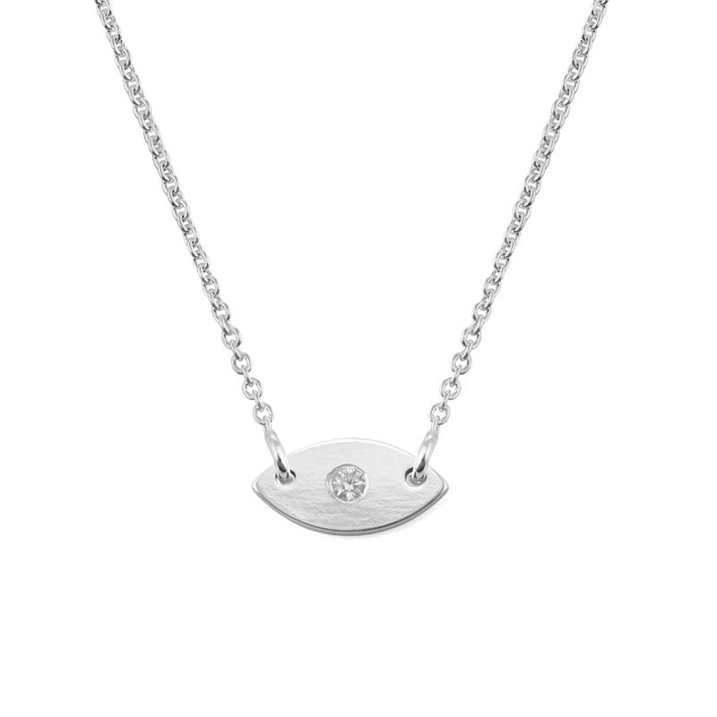 Evil Eye Dainty Necklace in Sterling Silver