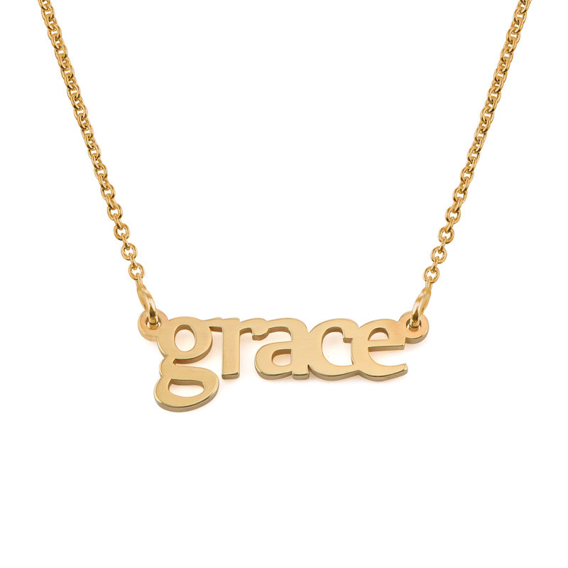 Personalize Name Necklace in Gold Plating