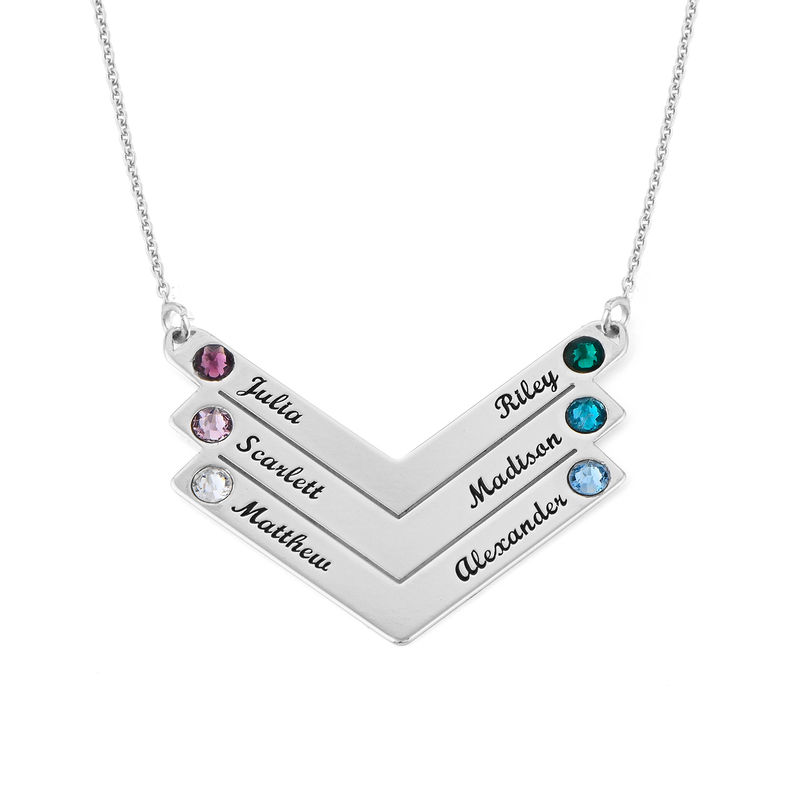 Swarovski Personalized Family Necklace in Sterling Silver