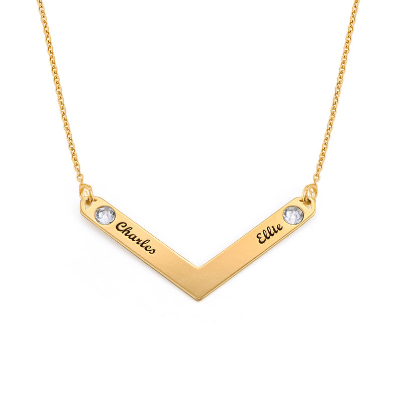 Swarovski Personalized Family Necklace in Gold Plating