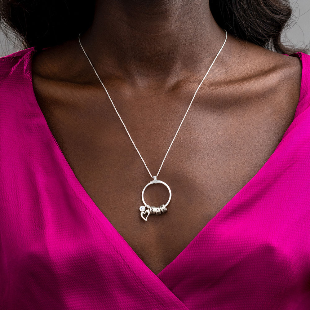 Linda Circle Pendant Necklace in Sterling Silver - 4