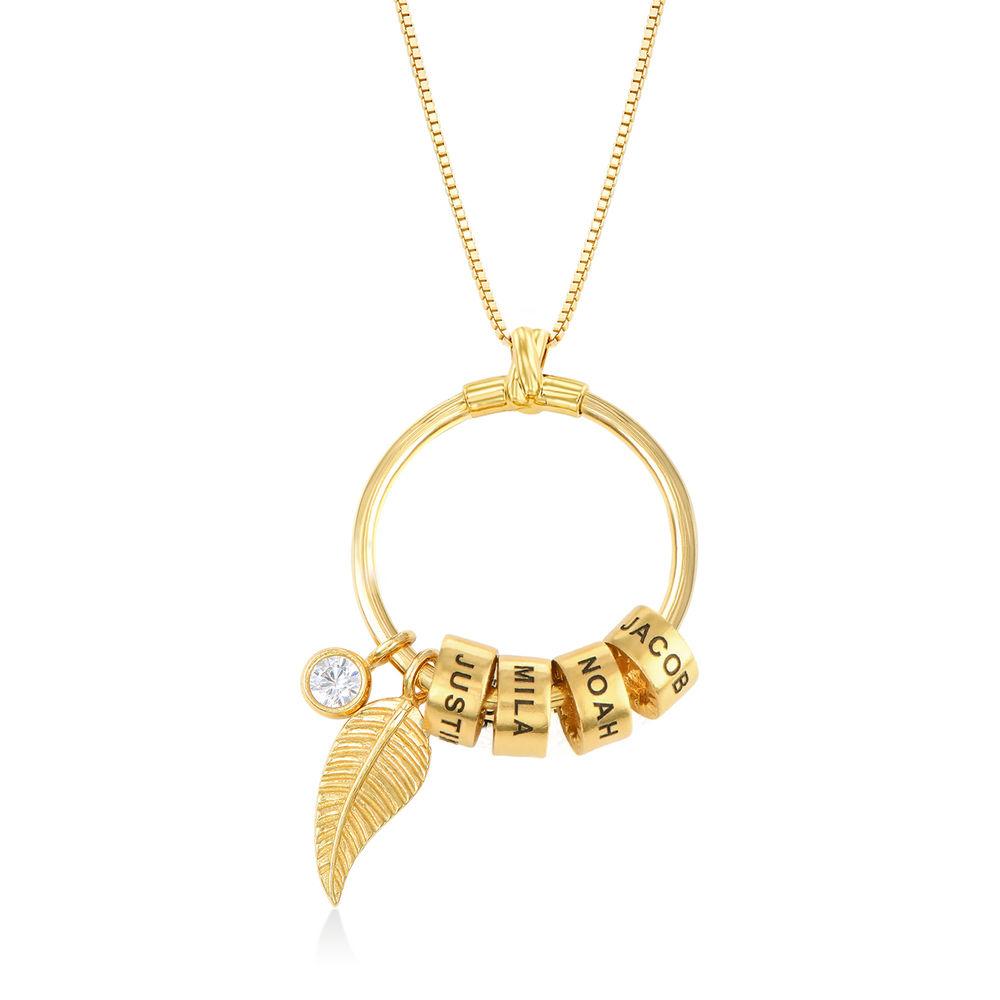 Linda Circle Pendant Necklace in 18k Gold Plating - 1