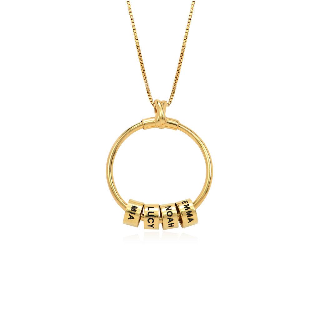Linda Circle Pendant Necklace in 18k Gold Plating - 2