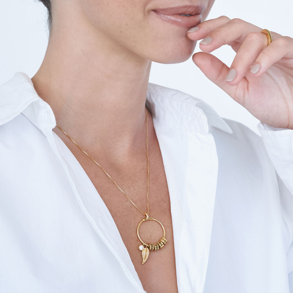 Linda Circle Pendant Necklace in 18k Gold Plating - 5