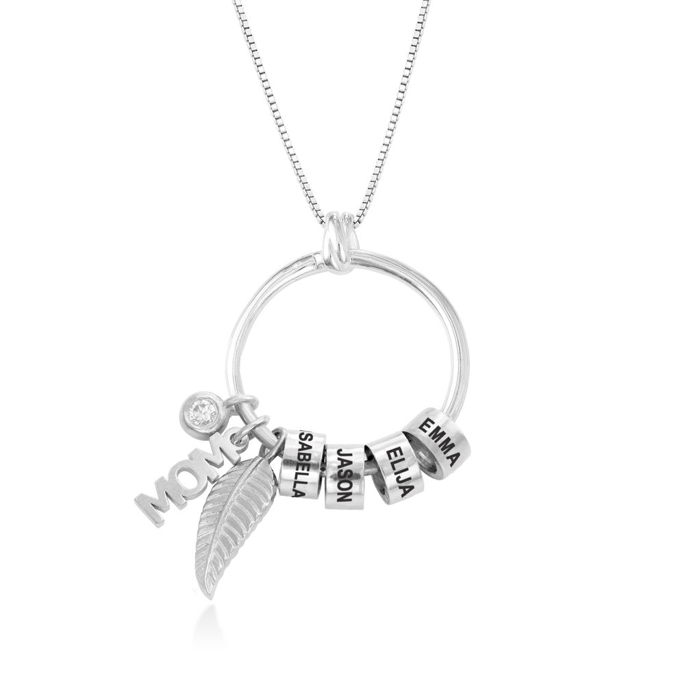 Linda Circle Pendant Necklace in Sterling Silver with Lab – Created Diamond - 1