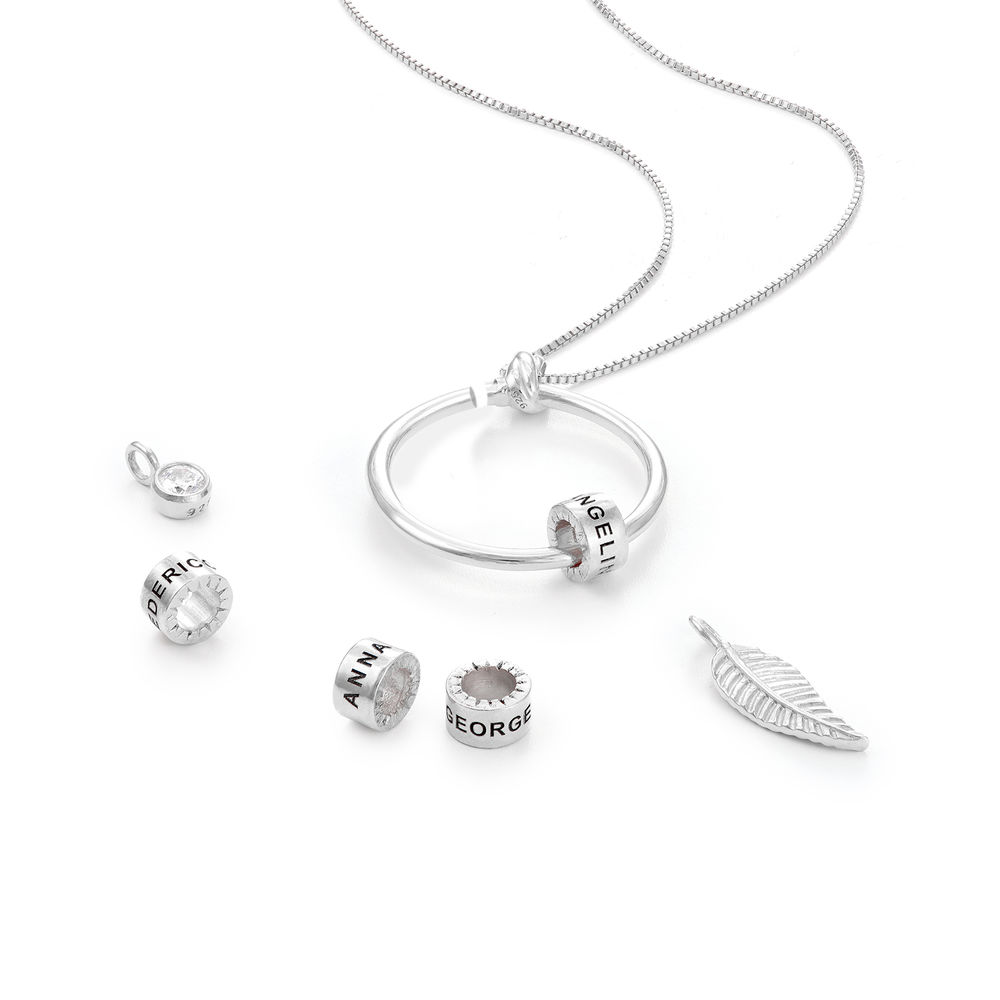 Linda Circle Pendant Necklace in Sterling Silver with Lab – Created Diamond - 2