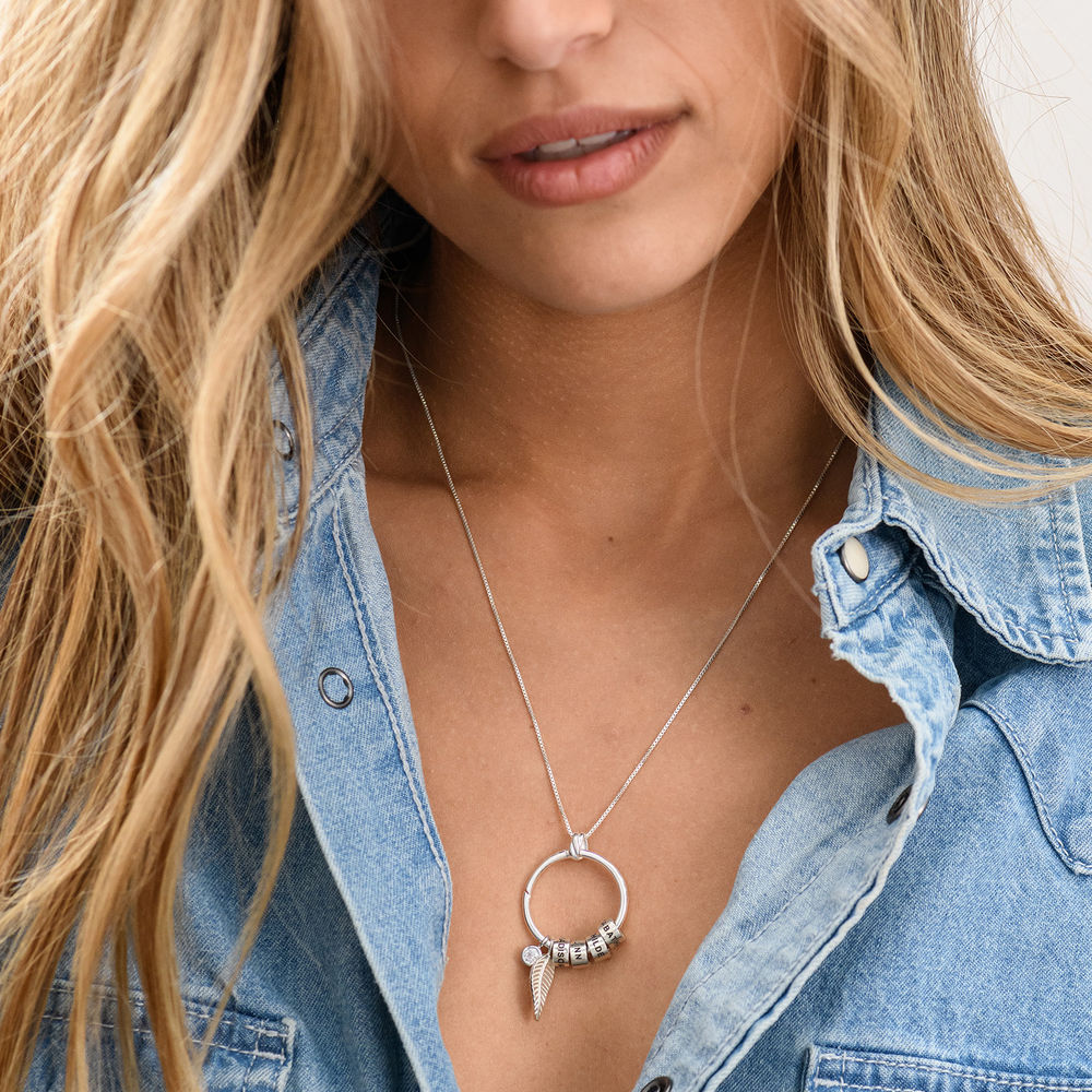 Linda Circle Pendant Necklace in Sterling Silver with Lab – Created Diamond - 6