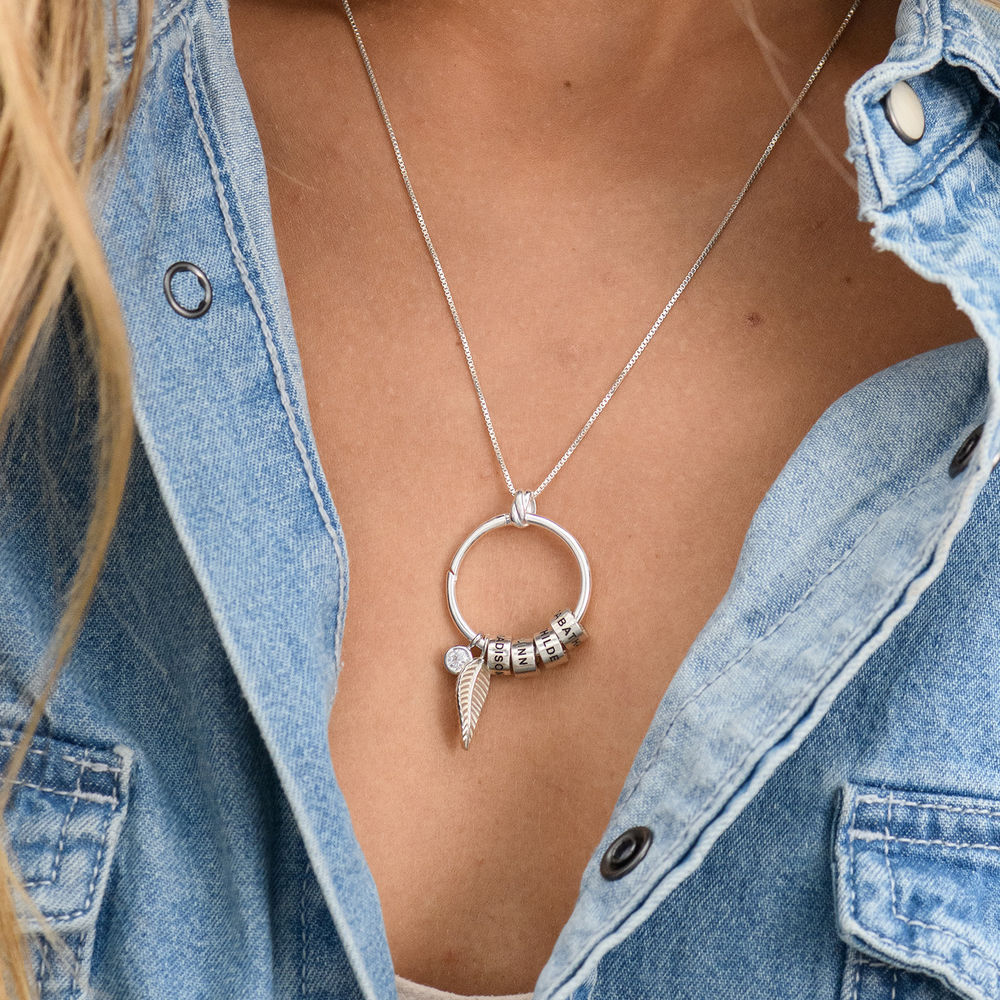 Linda Circle Pendant Necklace in Sterling Silver with Lab – Created Diamond - 7