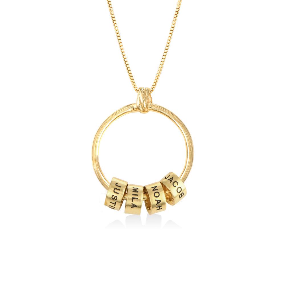 Linda Circle Pendant Necklace in 18k Gold Vermeil - 1
