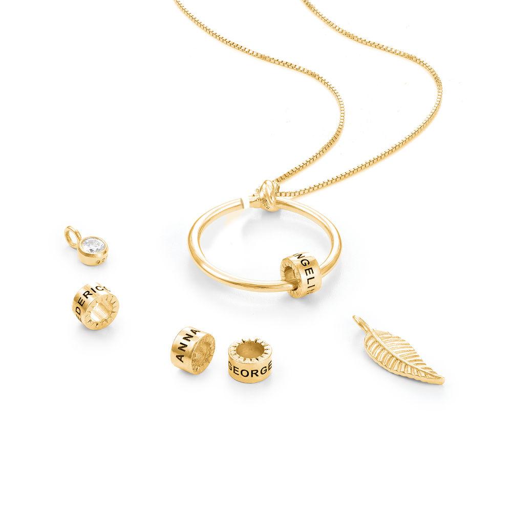 Linda Circle Pendant Necklace in 18k Gold Vermeil - 2