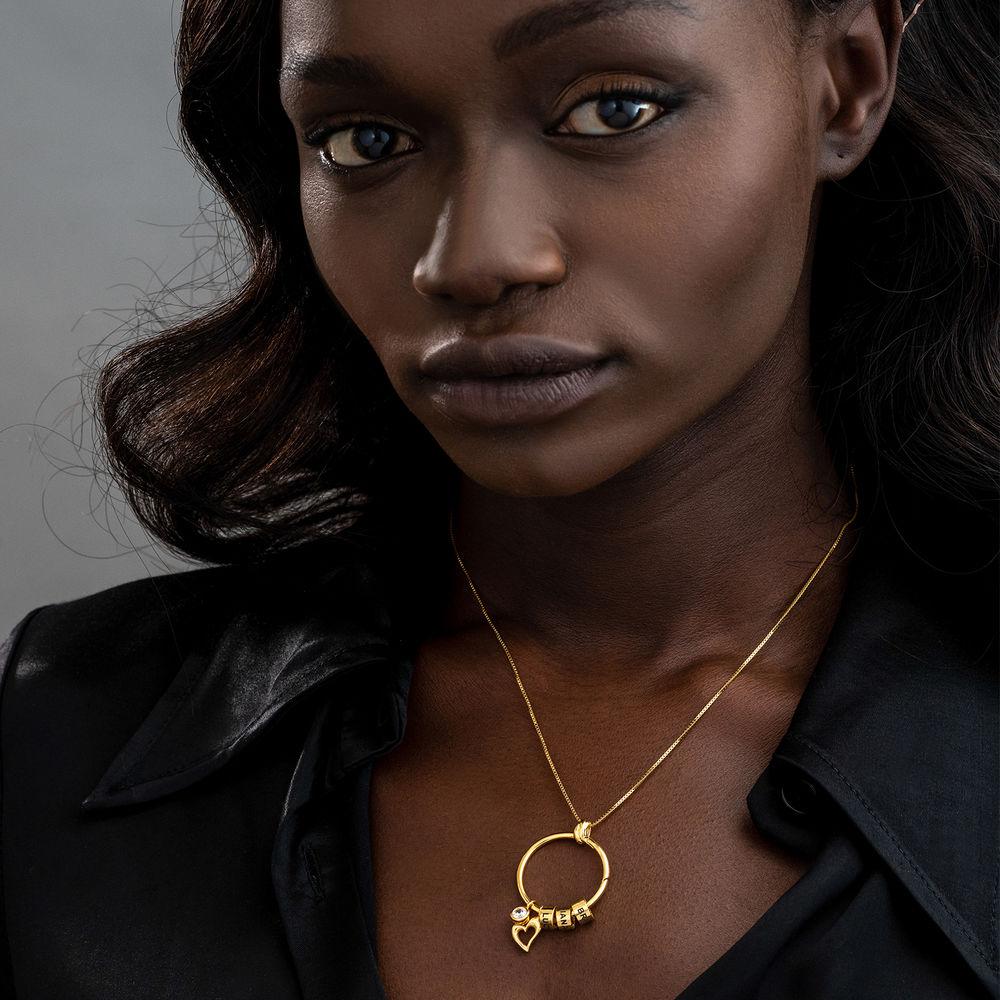 Linda Circle Pendant Necklace in 18k Gold Vermeil - 6