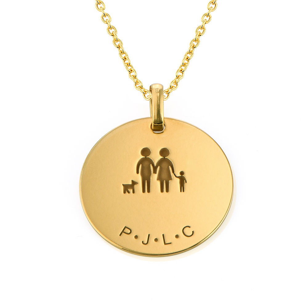 Family Necklace for Mom in 18K Gold Plating - 1