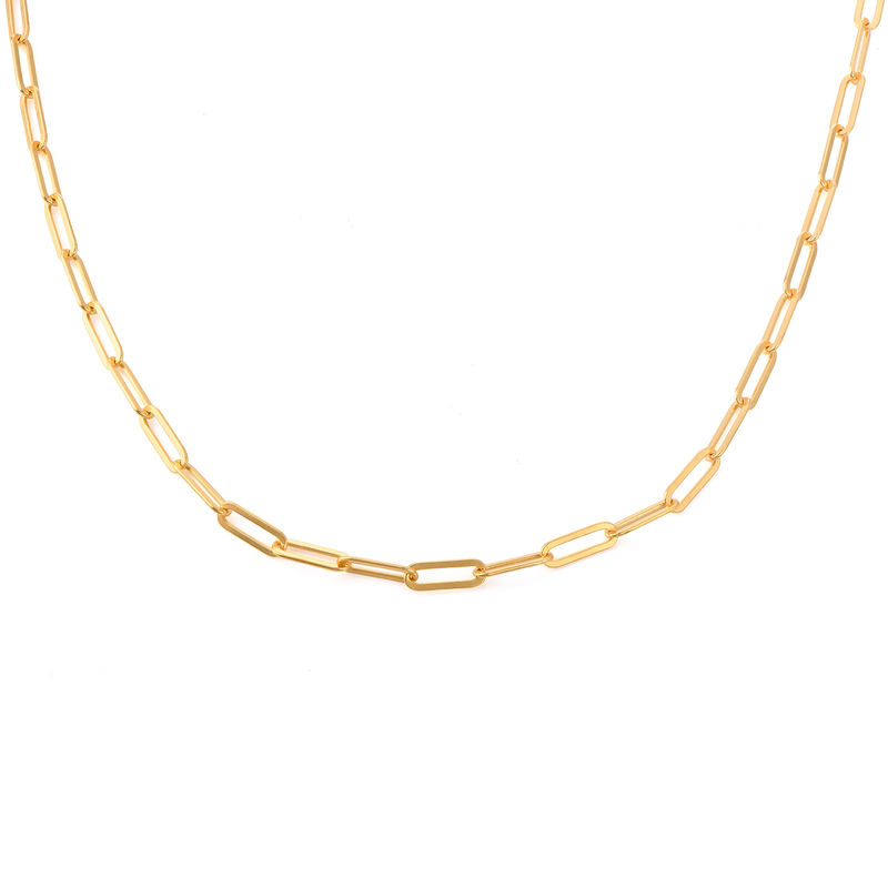Chain Link Necklace in 18K Gold Vermeil