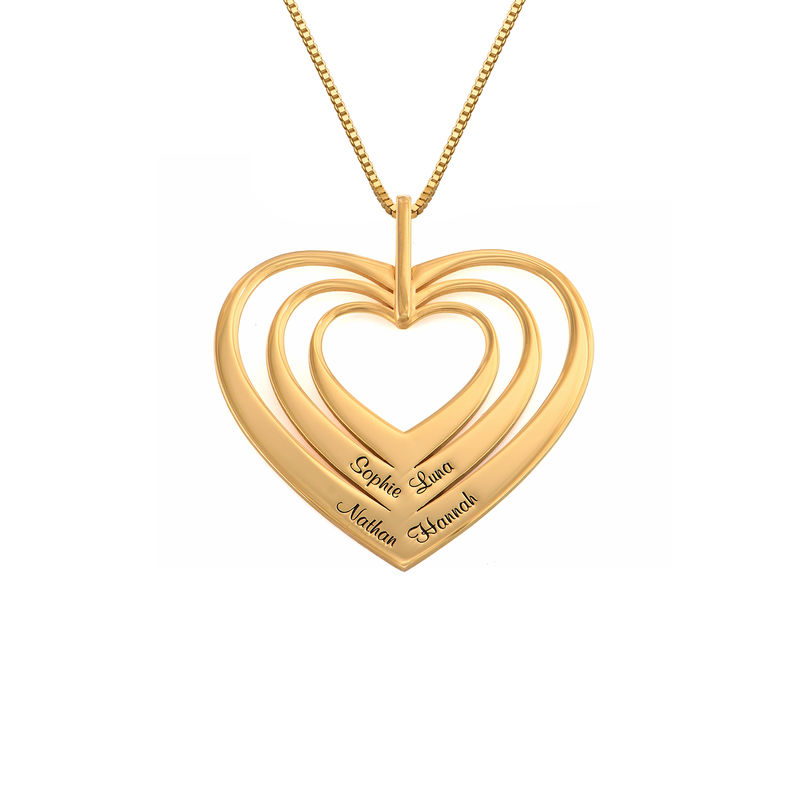 Family Hearts necklace in 18k Gold Vermeil - Mini design