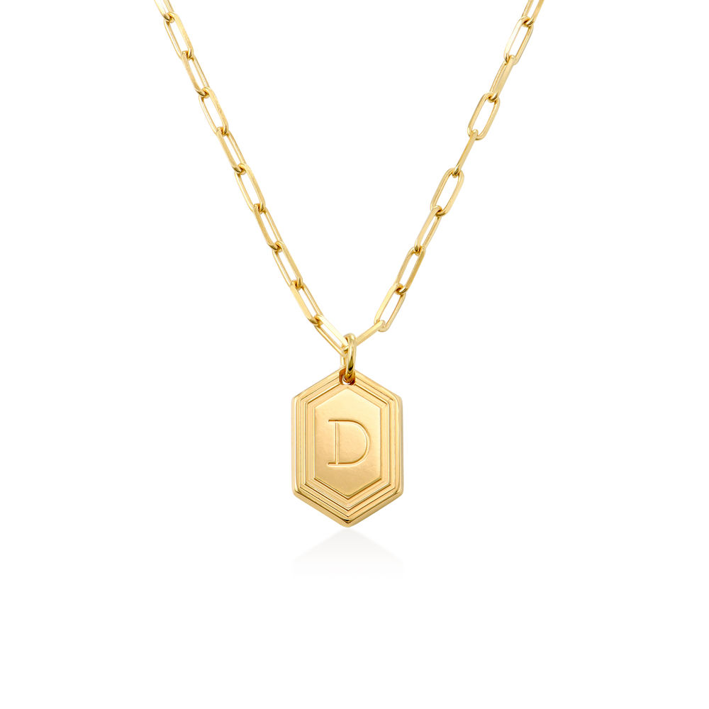 Cupola Link Chain Necklace in 18k Gold Plating