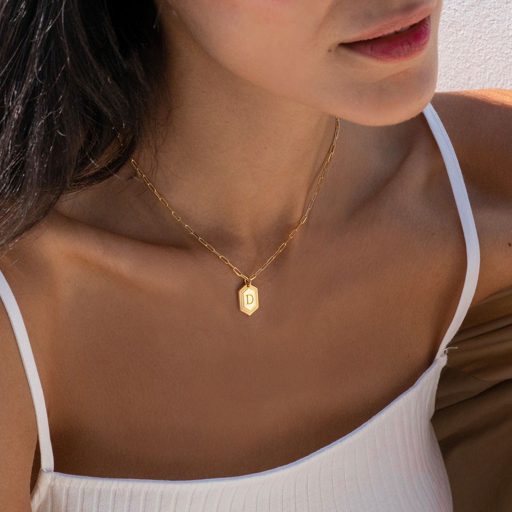 Cupola Link Chain Necklace in 18k Gold Plating - 1