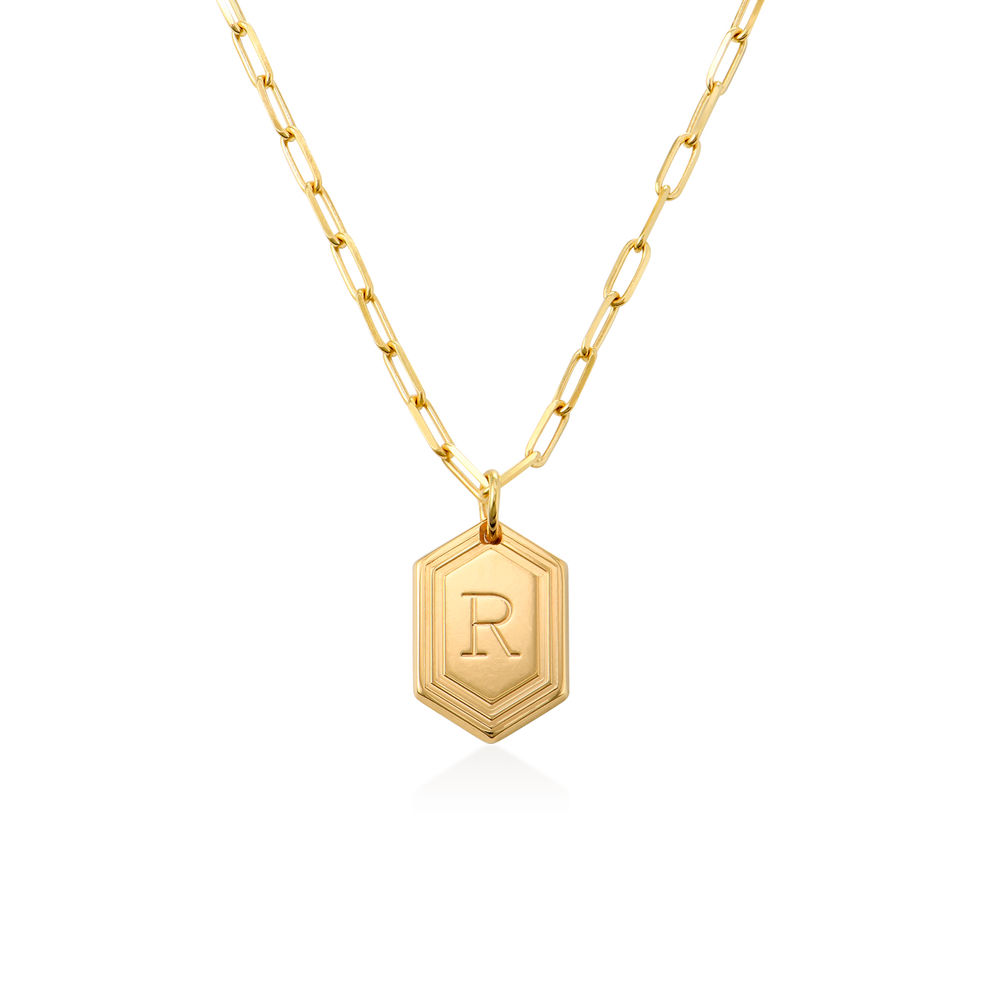 Cupola Link Chain Necklace in Vermeil