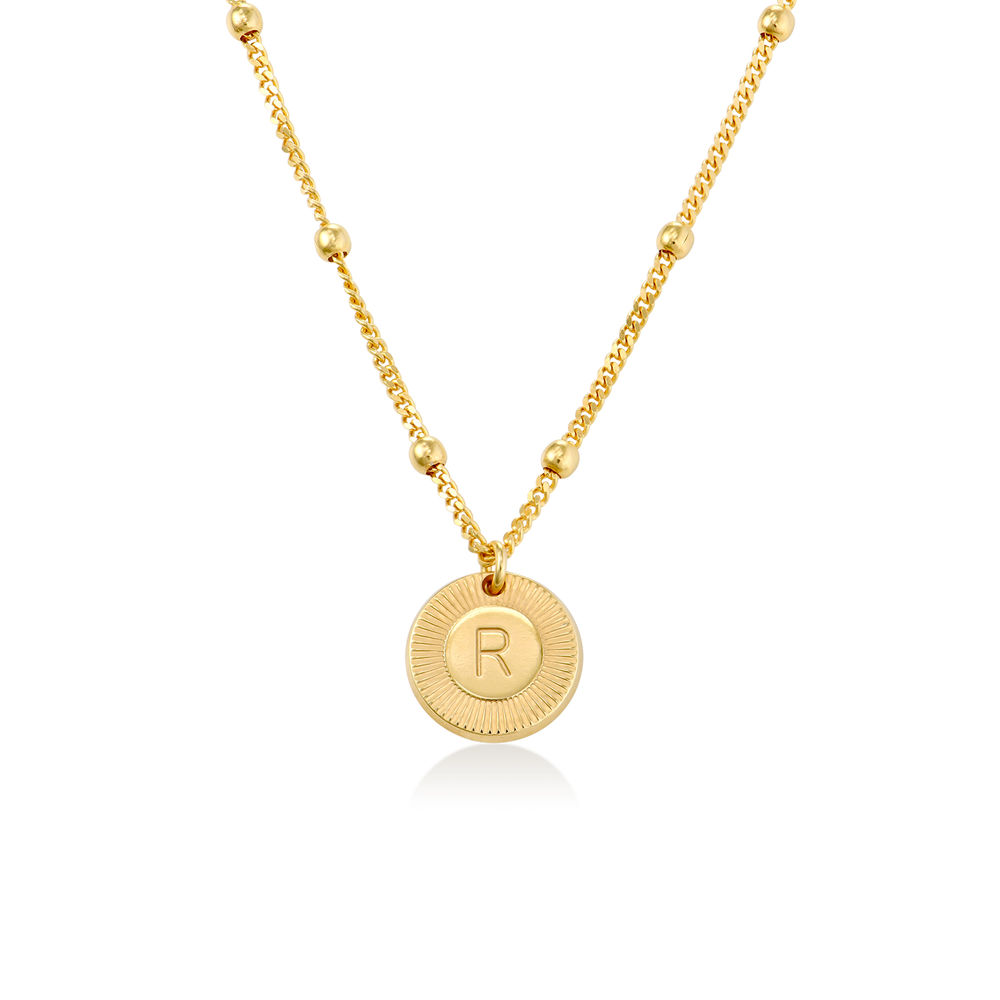 Mini Rayos Initial Necklace in 18K Gold Plating