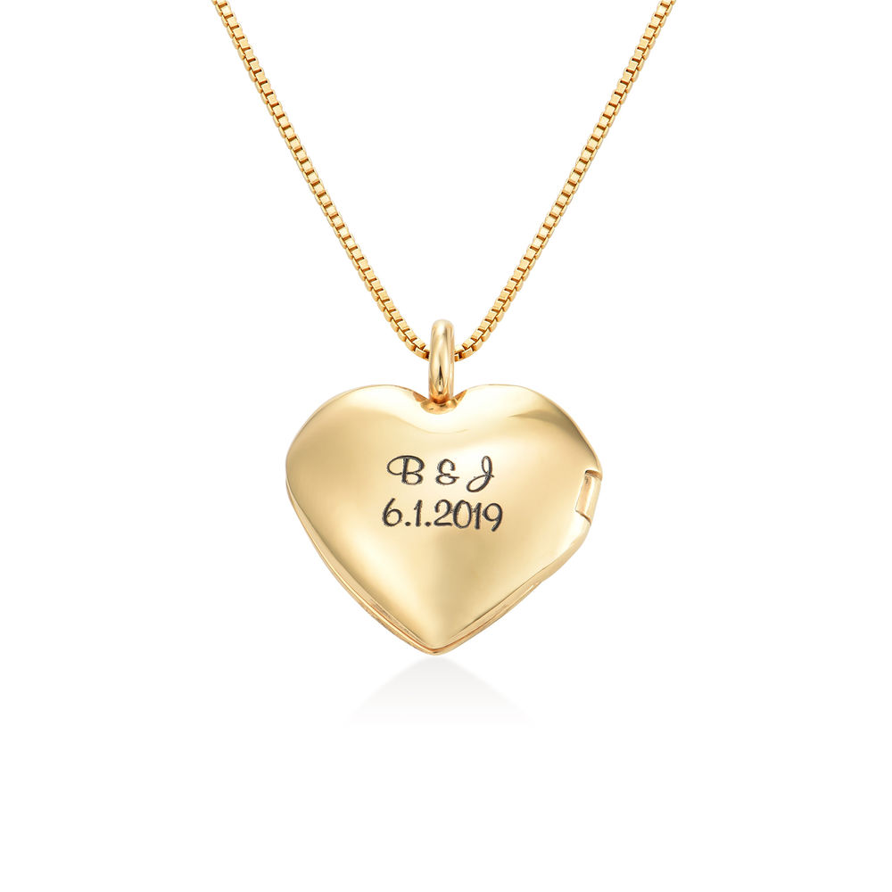 Heart Pendant Necklace with Engraving in Gold Plated
