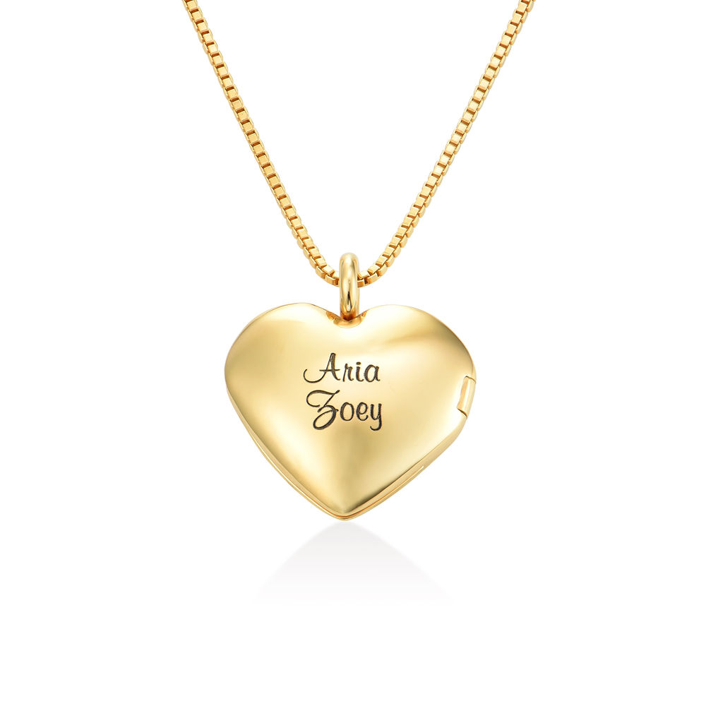 Heart Pendant Necklace with Engraving in Gold Vermeil