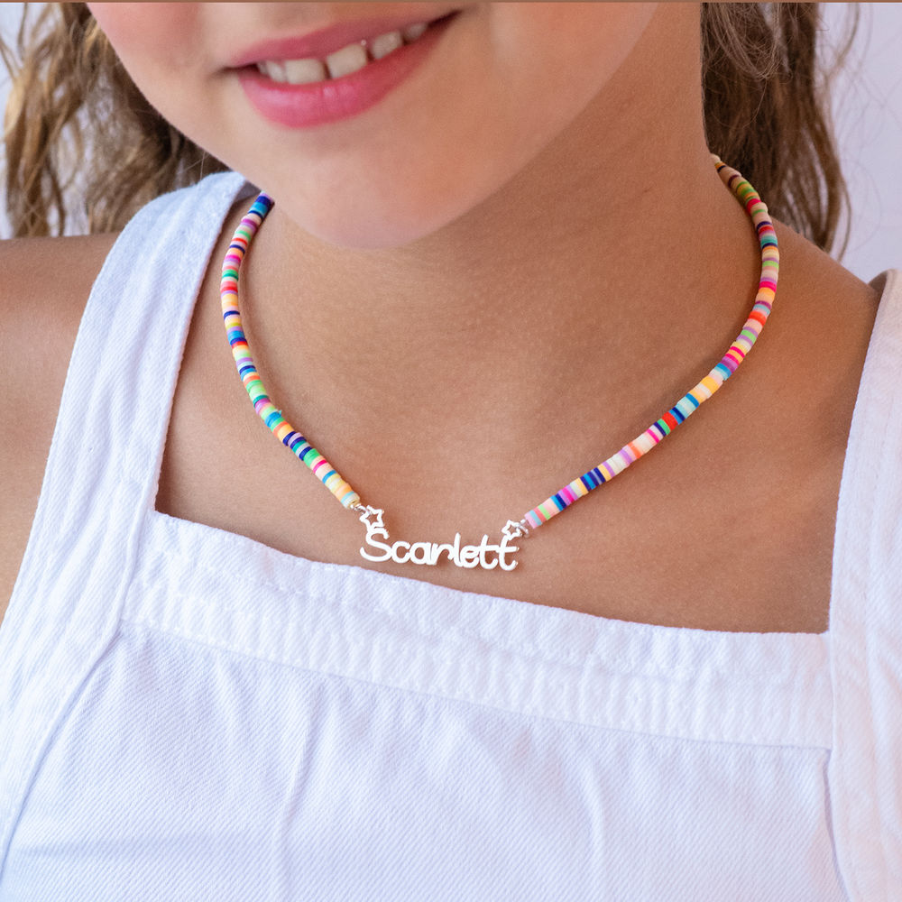 Rainbow Magic Girls Name Necklace in Sterling Silver - 2