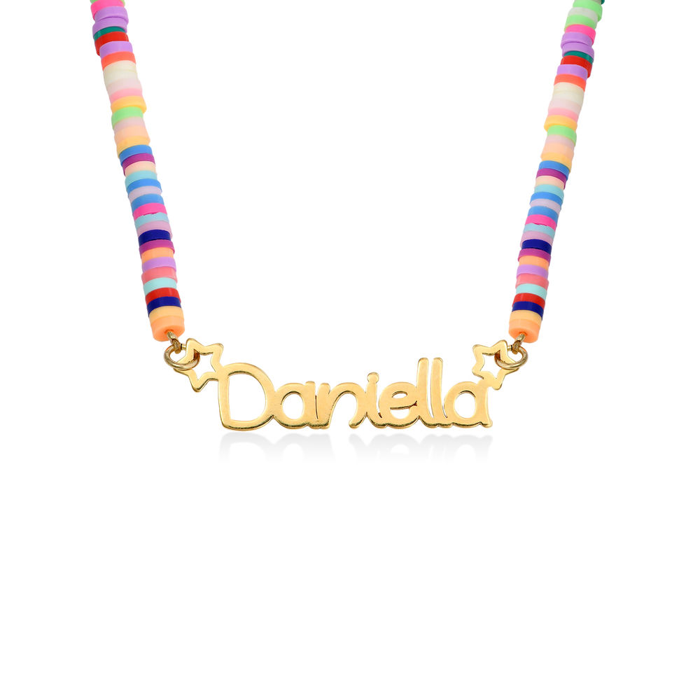 Rainbow Magic Girls Name Necklace in Gold Plating