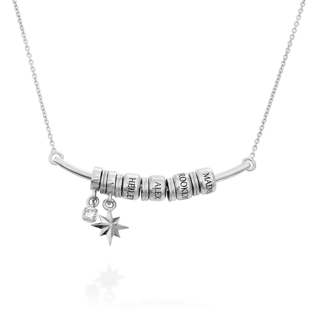 North Star Smile Bar Necklace in Sterling Silver