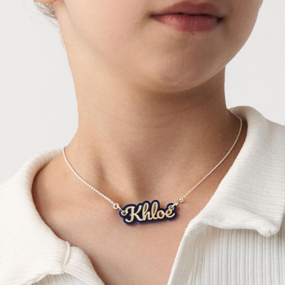 Retro Acrylic Name Necklace - 7