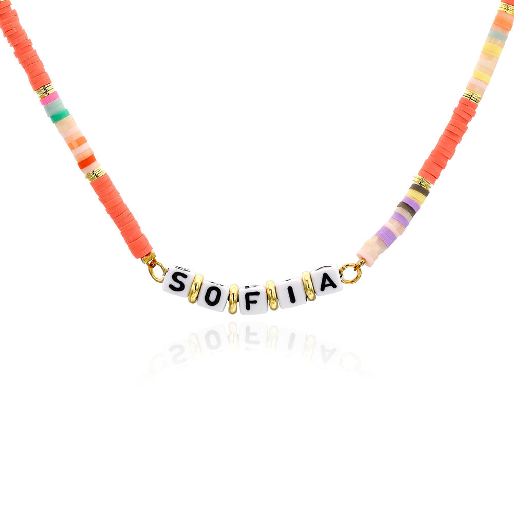 Coral Reef Kids Name Necklace in Gold Plating