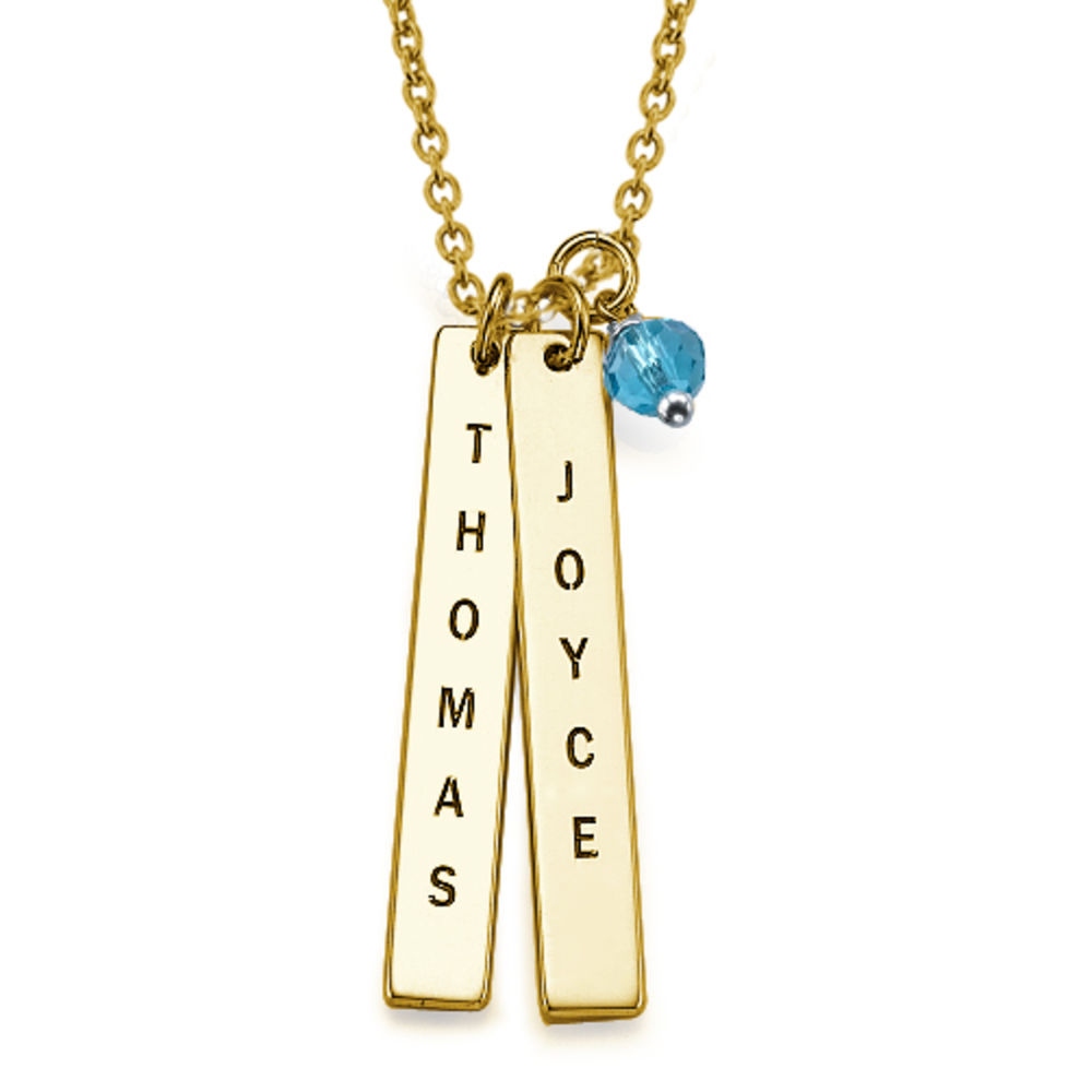Name Tag Necklace - Gold Plated - 1