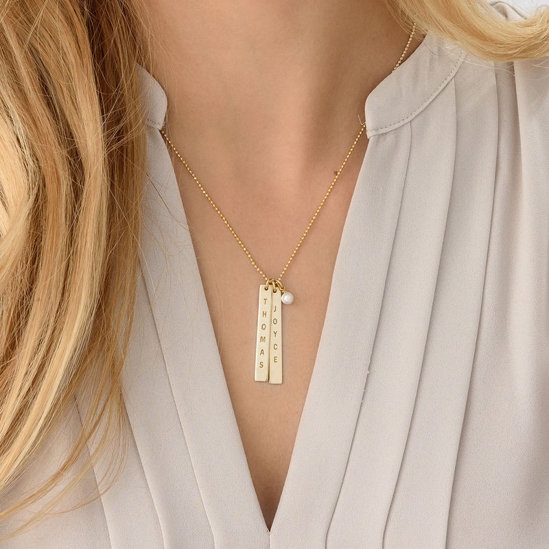 Name Tag Necklace - Gold Plated - 3