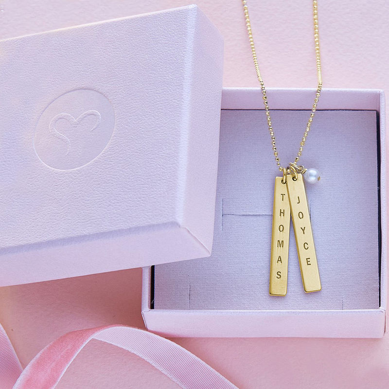 Name Tag Necklace - Gold Plated - 4