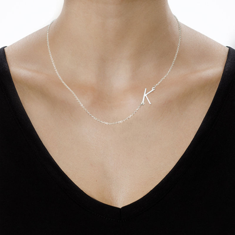 Two Sideways Initial Necklaces - 3