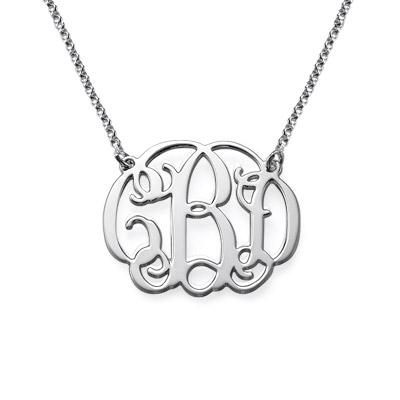 Sterling Silver Celebrity Monogrammed Necklace