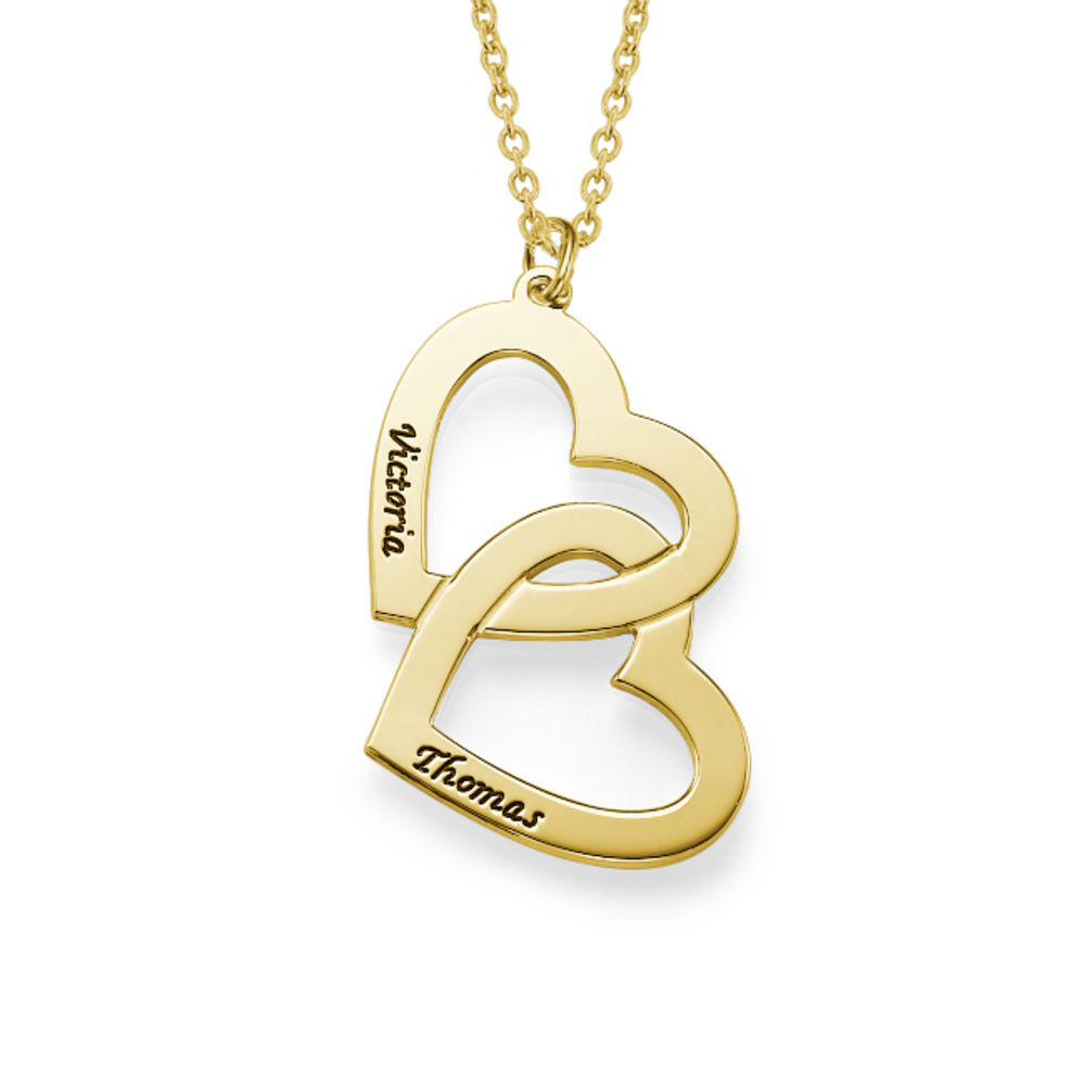 Heart in Heart Necklace in 18k Gold Vermeil