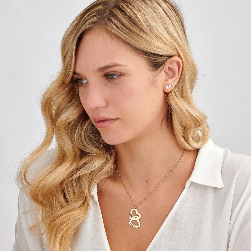 Heart in Heart Necklace in 18k Gold Vermeil - 2